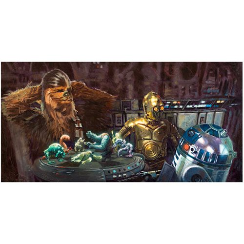 Star Wars Let the Wookiee Win Canvas Giclee Art Print