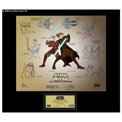 Star Wars Clone Wars Anakin Skywalker Model Sheet
