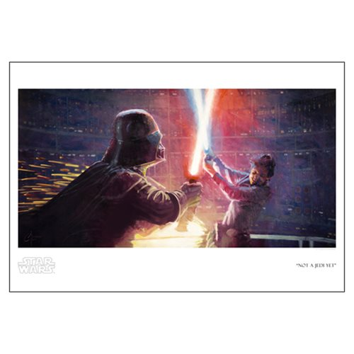 Star Wars Not a Jedi Yet by Christopher Clark Paper Giclee