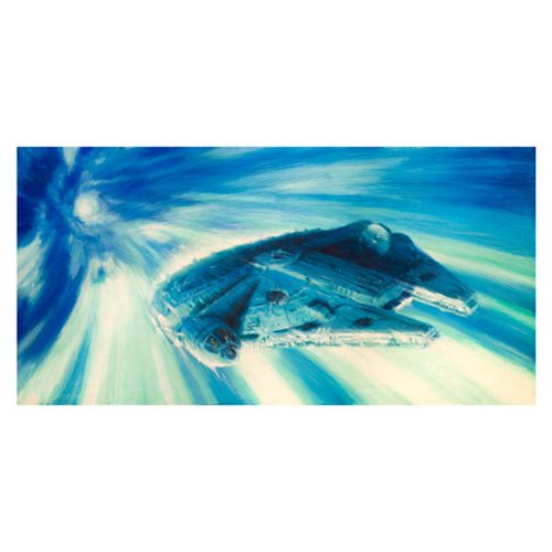 Star Wars Millennium Falcon in Hyperspace by Christopher Clark Canvas Giclee Art Print
