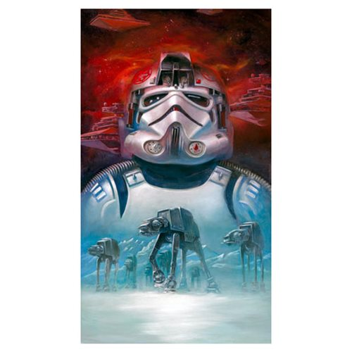 Star Wars AT-AT Pilot by Lee Kohse Canvas Giclee Art Print