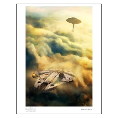 Star Wars Leaving Bespin by Cliff Cramp Paper Giclee Print