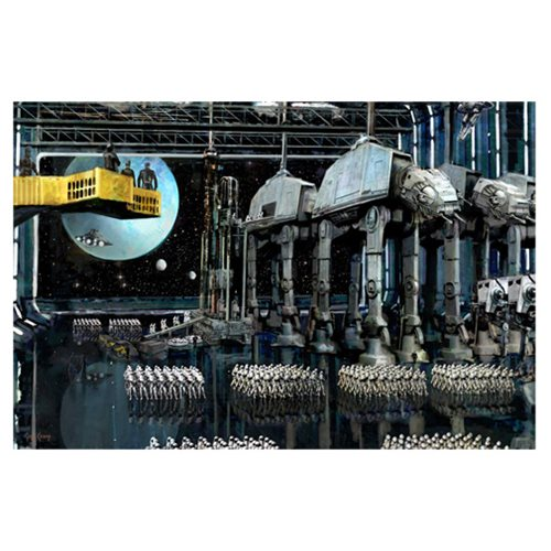 Star Wars Imperial Staging by Cliff Cramp Canvas Giclee Art Print