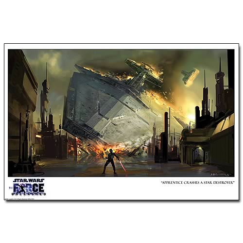 Star Wars Force Unleashed Apprentice Star Destroyer Print