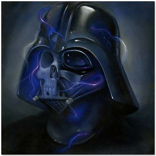 Star Wars Darth Vader Ride the Lightning Canvas Giclee Print