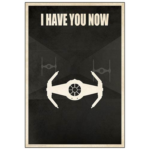 Star Wars I Have You Now TIE Fighter Paper Giclee Print