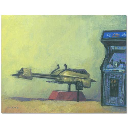 Star Wars Speeder Bike Arcade 1983 Canvas Giclee Print