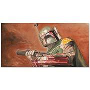 Star Wars Boba Fett Relentless Canvas Giclee Print