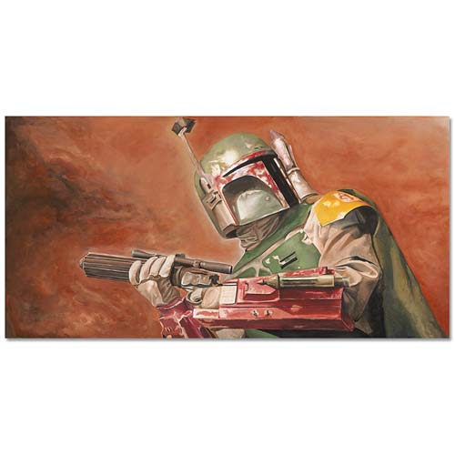 Star Wars Boba Fett Relentless Canvas Giclee Print