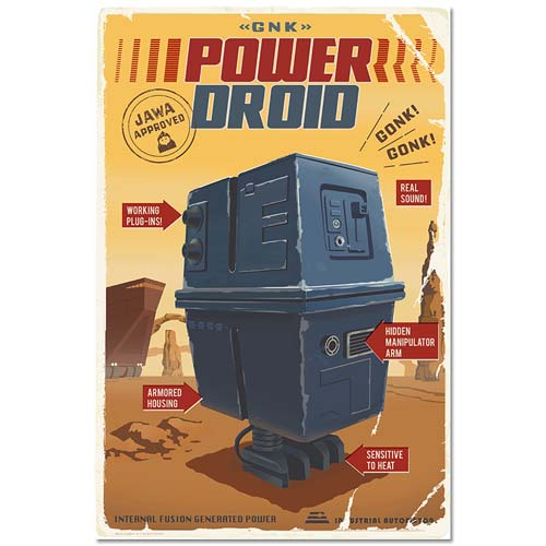 Star Wars Power Droid Retro Ad Poster Paper Giclee Print