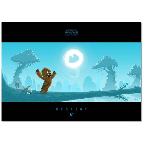 Star Wars Little Chewie's Destiny Paper Giclee Print