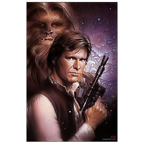 Star Wars With You: Han Solo & Chewbacca Paper Giclee Print