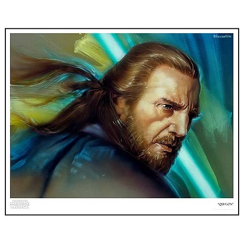 Star Wars Qui-Gon Paper Giclee Print