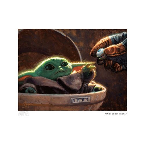 Star Wars: The Mandalorian An Unlikely Friend Paper Giclee