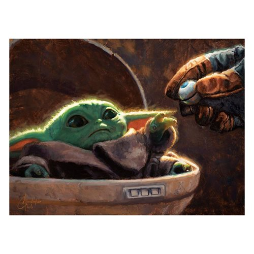 Star Wars: The Mandalorian An Unlikely Friend Canvas Giclee
