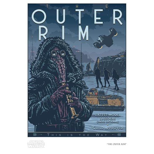 Star Wars: The Mandalorian The Outer Rim Paper Giclee Print