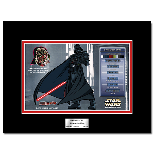 Star Wars Animated Darth Vader Character Key
