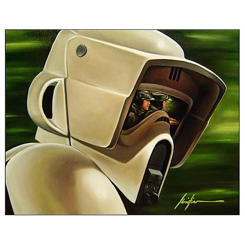 Star Wars Biker Scout Small Canvas Giclee Print