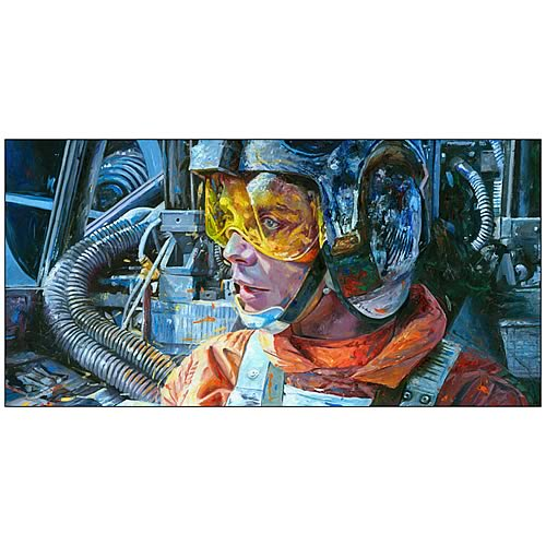 Star Wars Luke Skywalker Rebel Pilot Paper Giclee Print