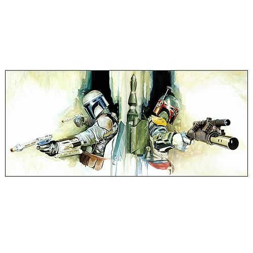 Star Wars Boba Fett & Jango Generations Canvas Giclee Print