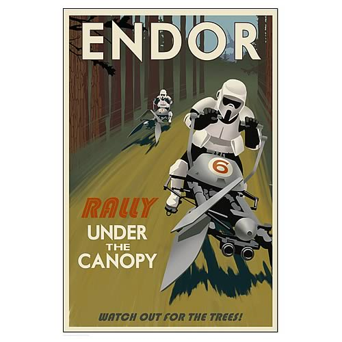 Star Wars Endor Rally Stormtroopers Paper Giclee Print