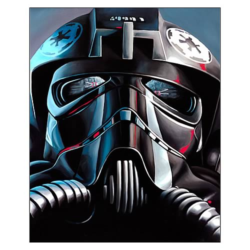 Star Wars TIE Fighter Pilot Paper Giclee Print