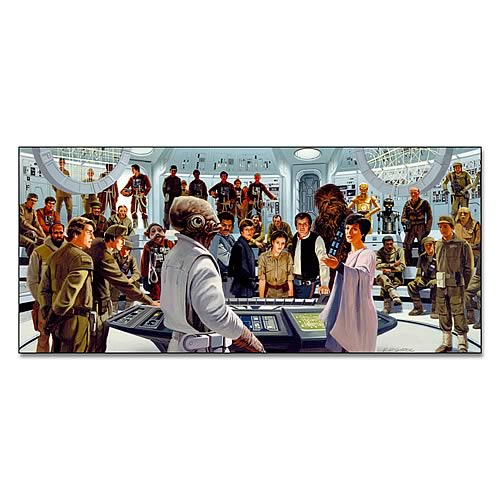 Star Wars Plan of Attack Large Canvas Giclee Print