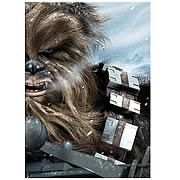 Star Wars Chewbacca Hoth Encounter Canvas Giclee Print