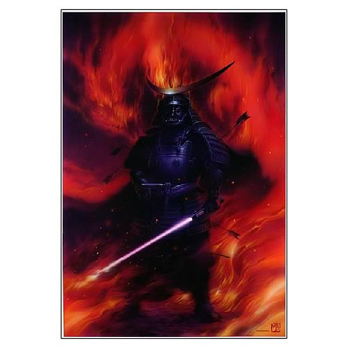 Star Wars Darth Vader Shogun Paper Giclee Print