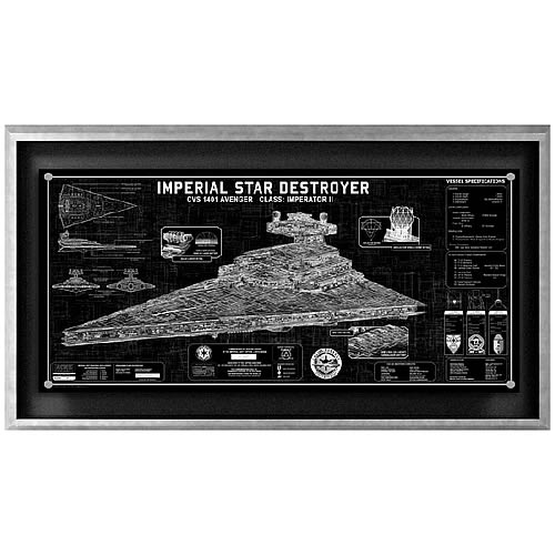 Star Wars Imperial Star Destroyer Framed SpecPlate
