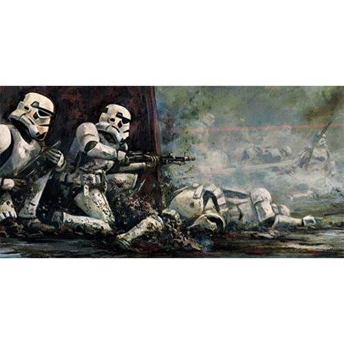 Star Wars Pinned Down by Cliff Cramp Canvas Giclee Art Print