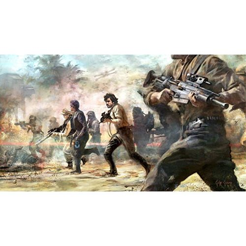 Star Wars Storming Rebels by Cliff Cramp Canvas Giclee Print