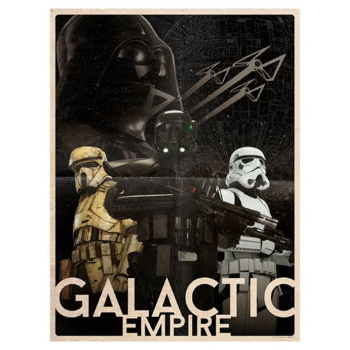 Star Wars Galactic Empire by Louis Solis Lithograph Print