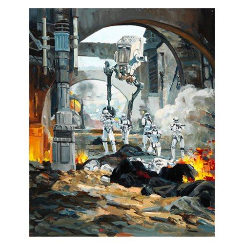 Star Wars Danger Around the Corner by Line' Tutwiler Canvas