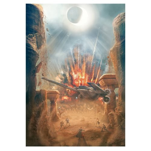 Star Wars The Escape by Akirant Canvas Giclee Art Print