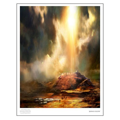 Star Wars Jedha's Doom by Cliff Cramp Paper Giclee Print