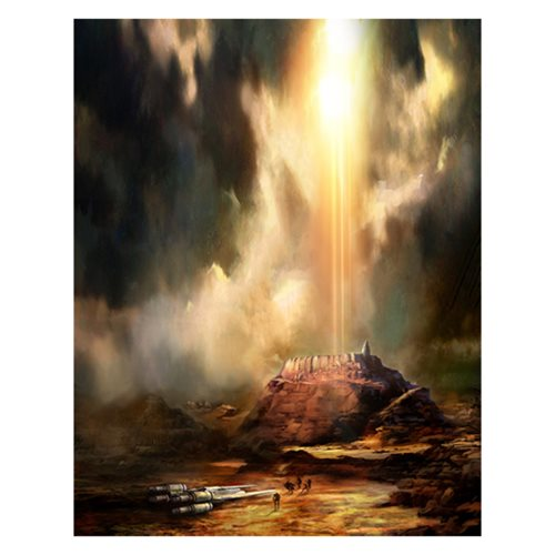 Star Wars Jedha's Doom by Cliff Cramp Canvas Giclee Print