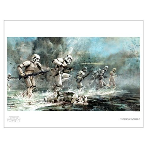 Star Wars Storming Troopers by Cliff Cramp Paper Giclee Art
