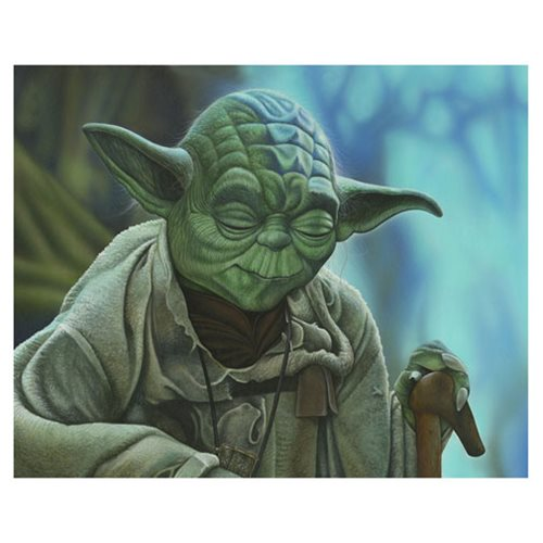 Star Wars Yoda Canvas Giclee Art Print
