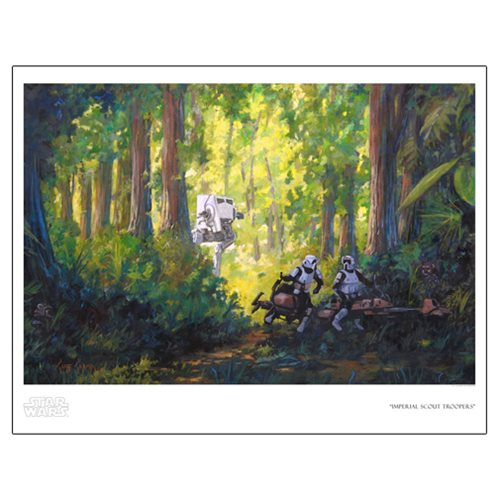 Star Wars Imperial Scout Troopers Paper Giclee Art Print