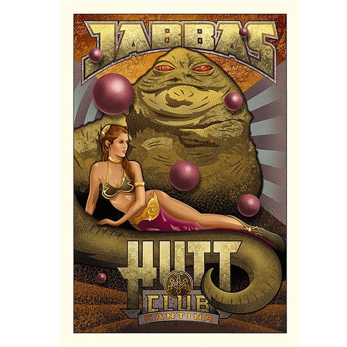 Star Wars Jabba's Hutt Club Cantina Canvas Giclee Art Print
