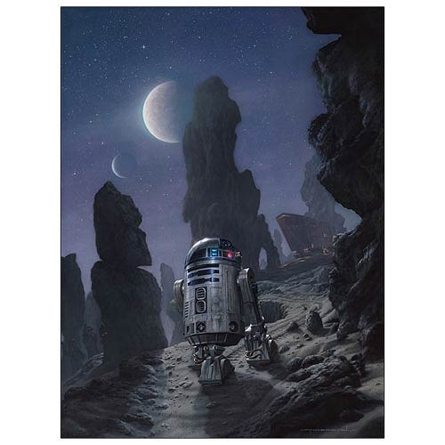 Star Wars R2-D2 Artoo's Lonely Mission Paper Giclee Print
