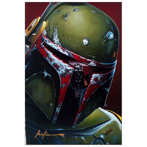 Star Wars Boba Fett on Cloud City Paper Giclee Print