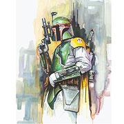 Star Wars Boba Fett On the Hunt Paper Giclee Art Print