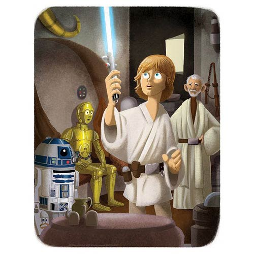Star Wars This Was Your Father's Lightsaber Paper Giclee