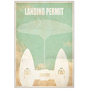 Star Wars Cloud City Landing Permit Paper Giclee Print