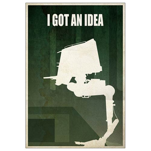 Star Wars AT-ST Walker I Got an Idea Paper Giclee Print
