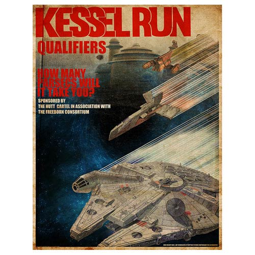 Star Wars Kessel Run Qualifiers Fine Art Lithograph