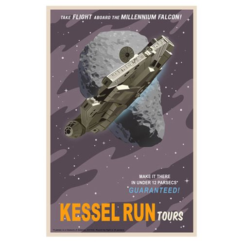 Star Wars Kessel Run Tours Canvas Giclee Art Print