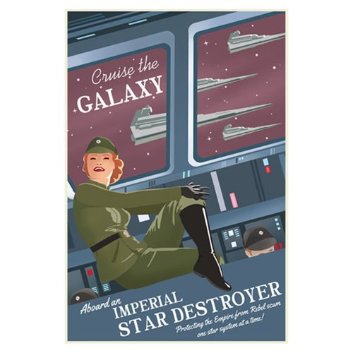 Star Wars Cruise the Galaxy Canvas Giclee Art Print